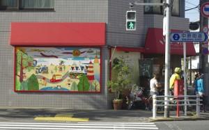 通りからの風景。