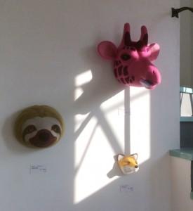 ピンクのキリンさん。 ここの展示が気に入っています。